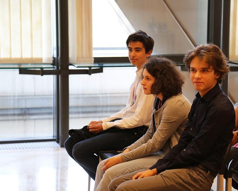 Trois membres de l'équipe des eJOI 2019 : Pablo Rey, Alice Tosel et Victor Zablocki