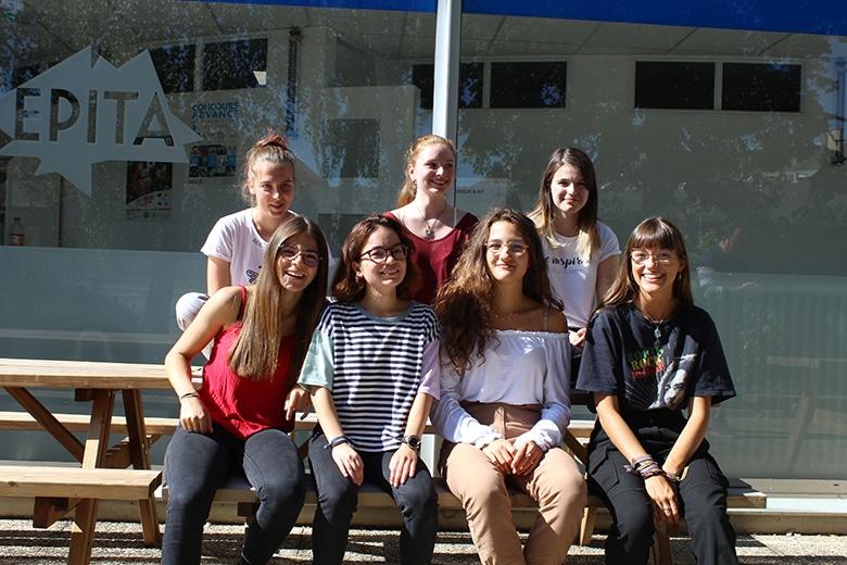 Clarisse et les autres futures ingénieures de la promo 2024 de l'EPITA