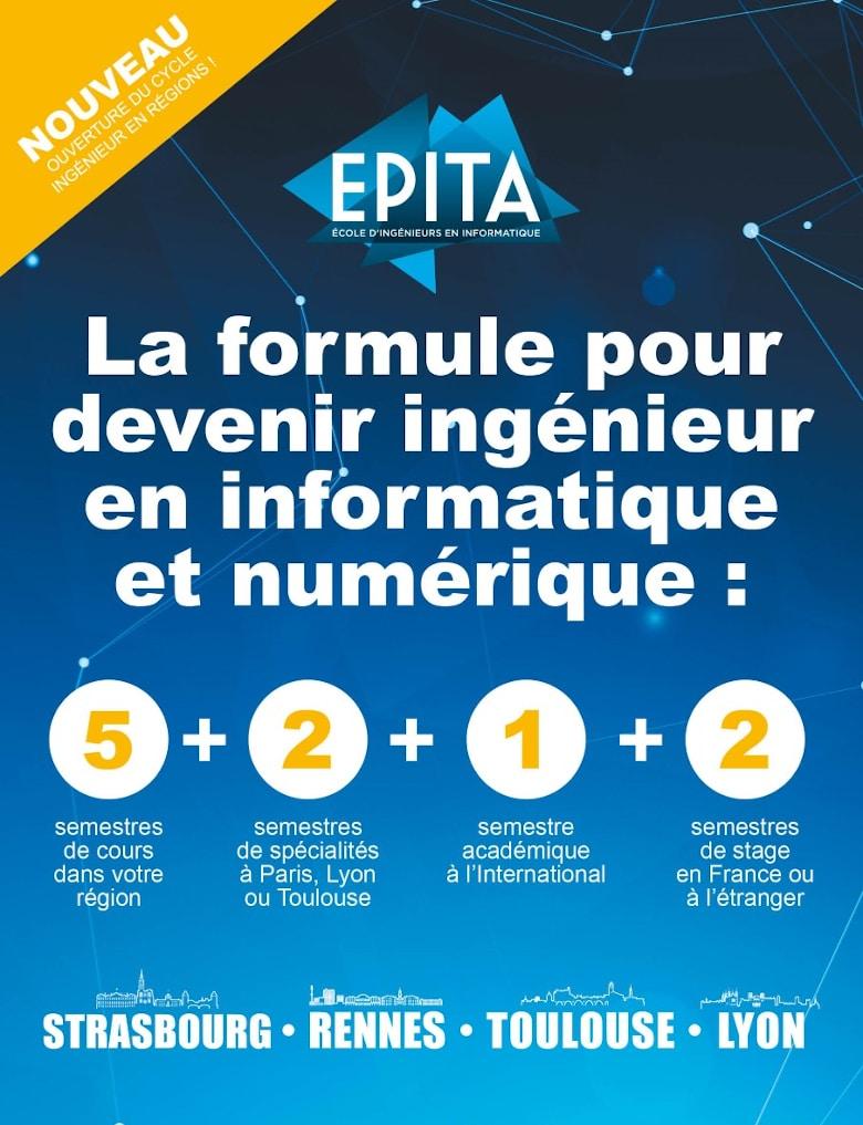 Rentrée 2021 : le Cycle ingénieur de l'EPITA s'étend aux régions !